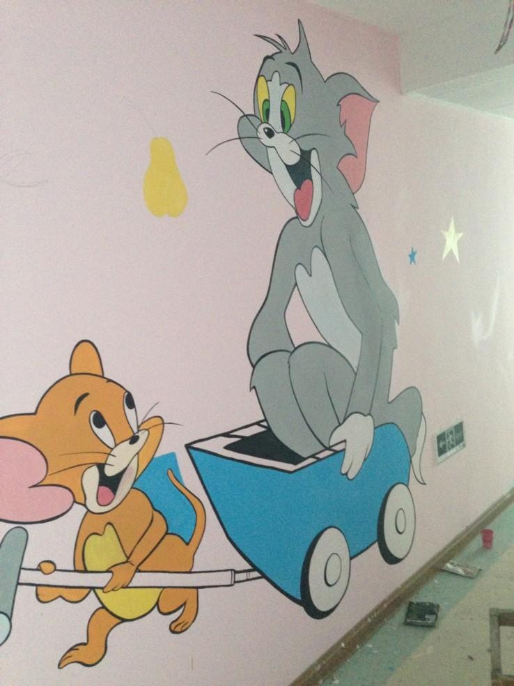 卡通墙画_手绘形像识别墙画